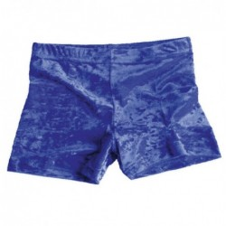 Short velours bleu roi
