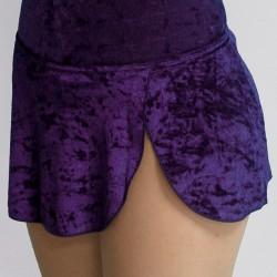 Jupette velours violet