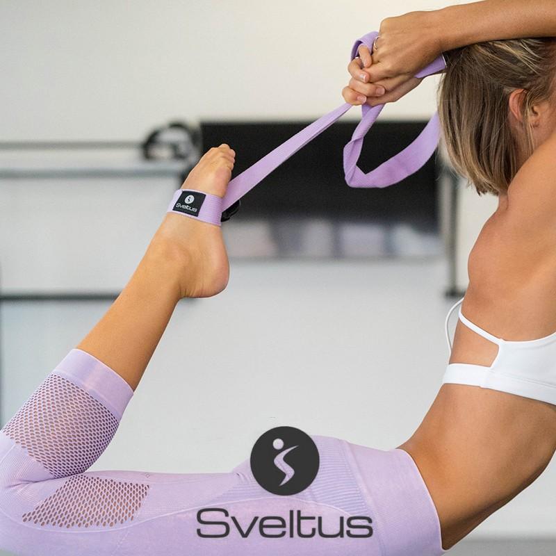 Sangle Yoga lilas