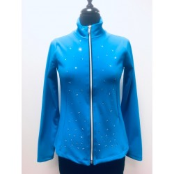 Veste patinage strass IM 6523 Turquoise