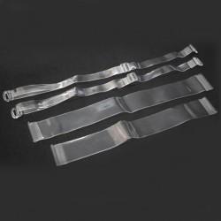 Set mit transparenten Träger