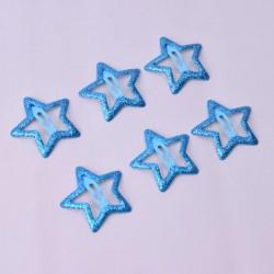 türkis glitter Sterne Haarspangen