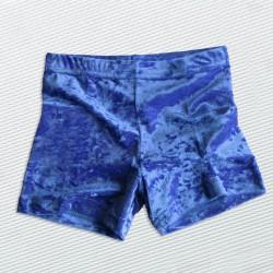 Knittersamt short königsblau