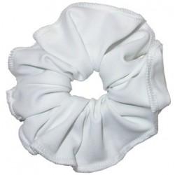 Chouchou lycra opaque blanc