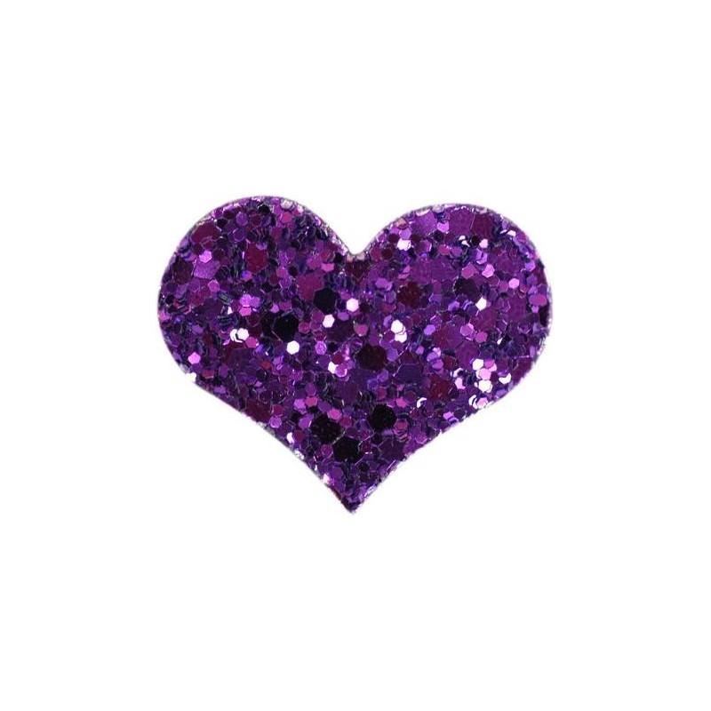 Barrette HEART violet