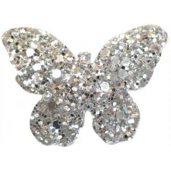 Haarspange BUTTERFLY silber