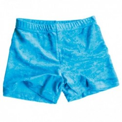 Short velours turquoise