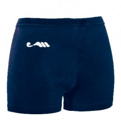 Short velours ras marine
